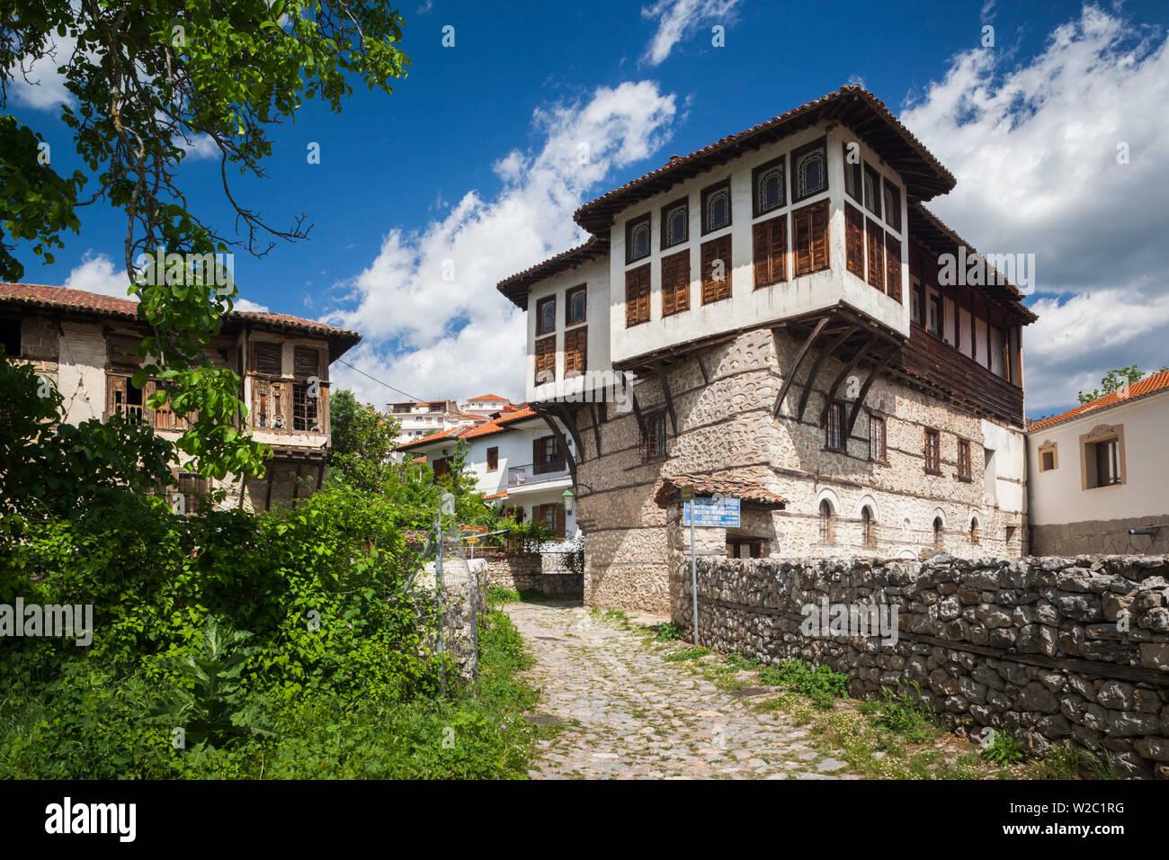 Grecia, Macedonia Occidental Región, Kastoria, Museo de Trajes tradicionales alojado en casa de la era otomana Imagen De Stock