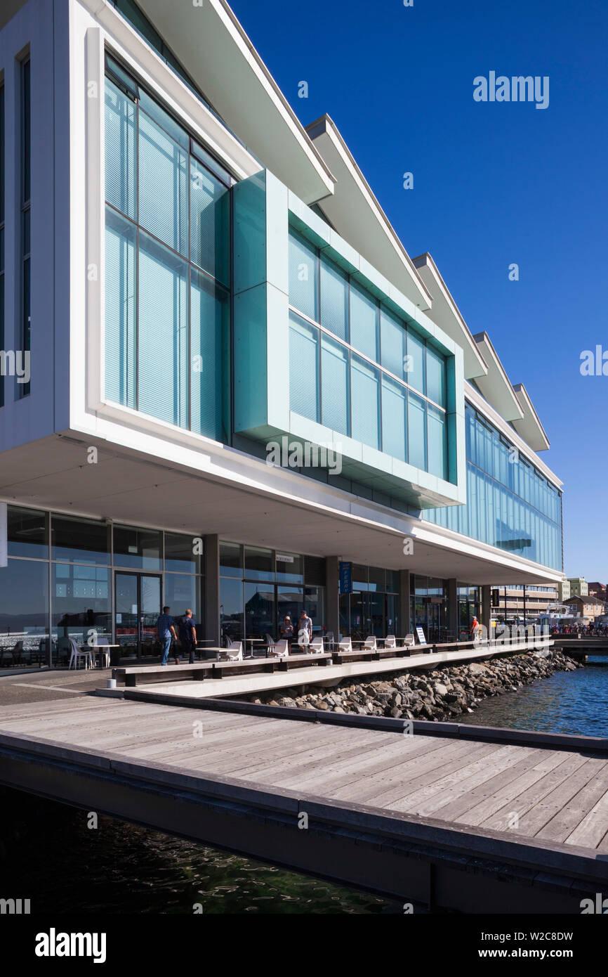 Isla del Norte, Nueva Zelanda, Wellington, Waterfront, Meridian nave de energía Imagen De Stock