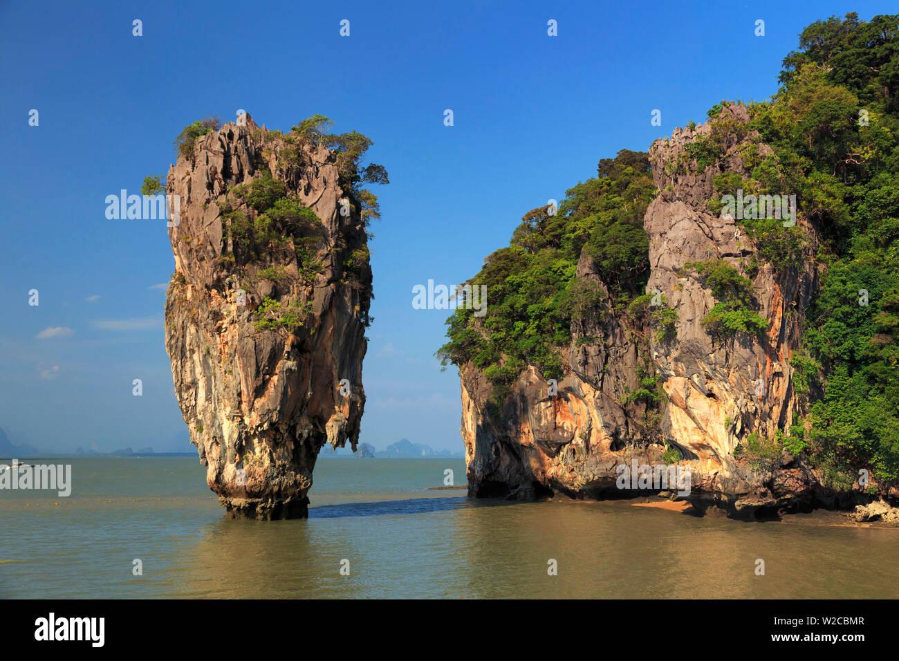 Tailandia, la provincia de Krabi, Ao Phang-Nga (Bahía Phang-Nga), la isla de James Bond (Ko Khao Phing Kan) Foto de stock