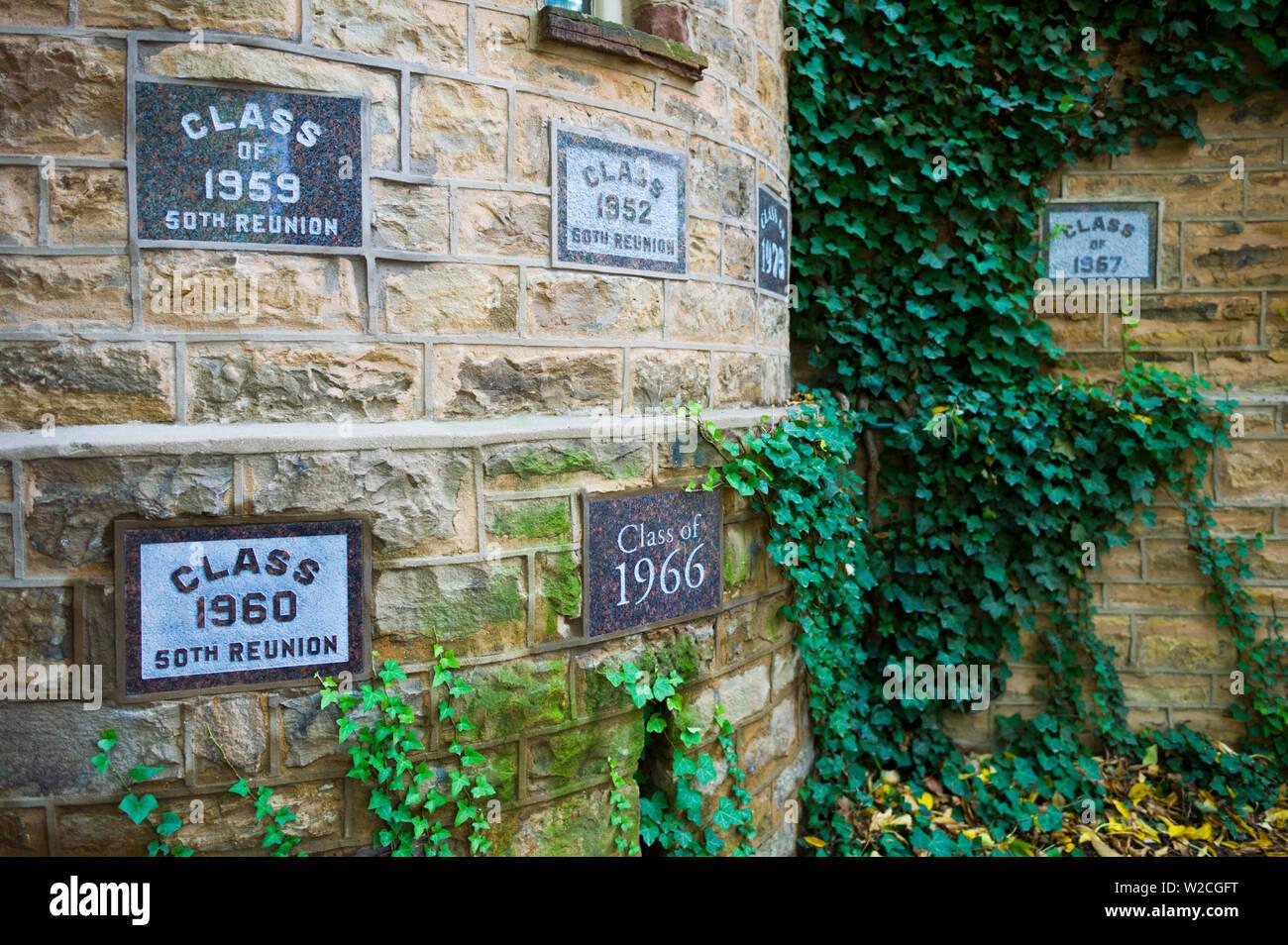 Los Estados Unidos, Nueva Jersey, la Universidad de Princeton, Princeton, graduación memoriales, Nassau Hall Imagen De Stock