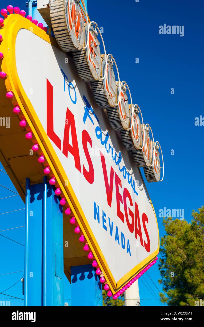 Estados Unidos, Nevada, Las Vegas, Bienvenido a la fabulosa Las Vegas Sign Foto de stock