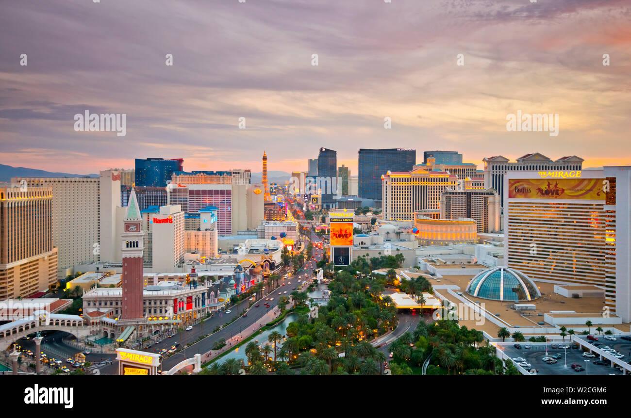 Estados Unidos, Nevada, Las Vegas, El Strip Foto de stock