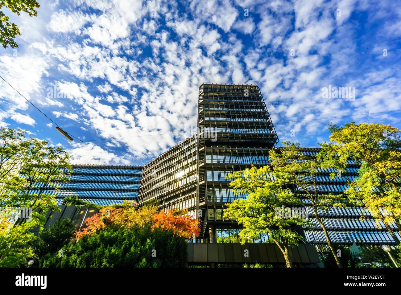 Ver en la Oficina Europea de Patentes en Munich. Alta Baviera, Baviera, Alemania, Europa Foto de stock