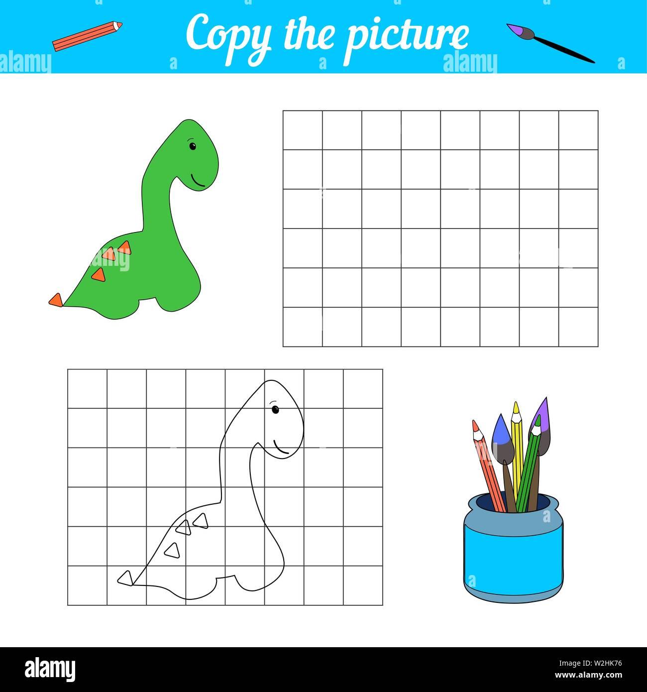 Libro Para Colorear De Dinosaurios De Póster Sorteo Del Estilo De