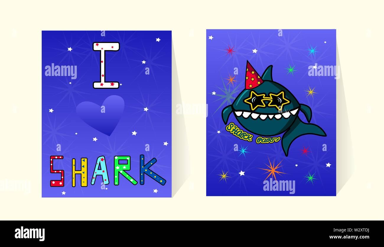 Tarjetas De Invitación A La Fiesta De Cumpleaños Tiburón