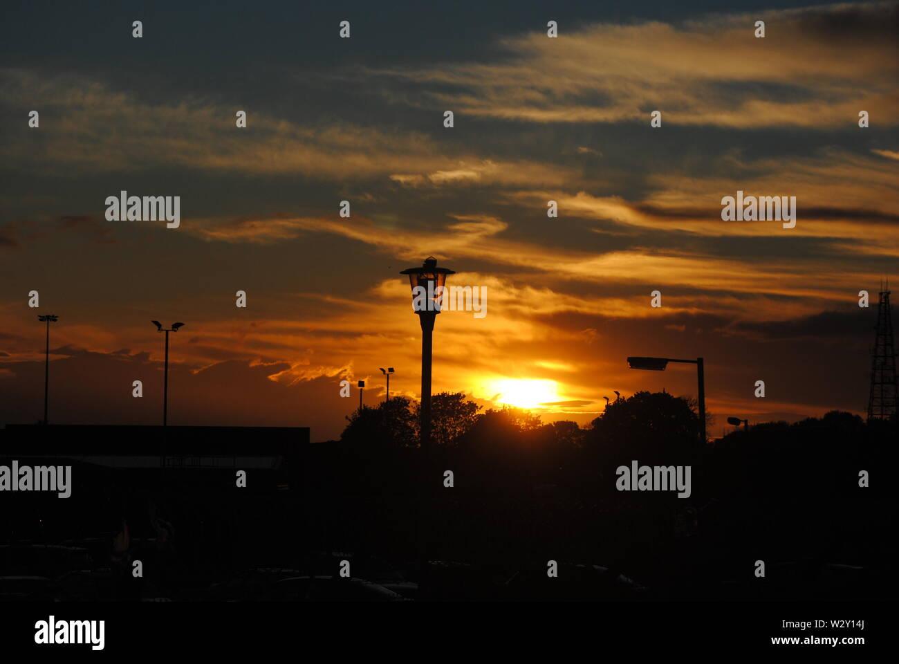 Secuencia de imágenes oa atardecer en la base aérea de mildenhall Foto de stock