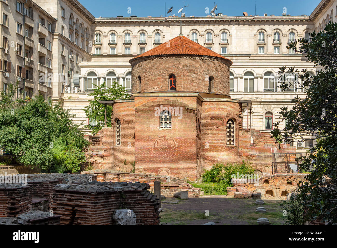 St George Rotunda iglesia, Sofía, Bulgaria Foto de stock