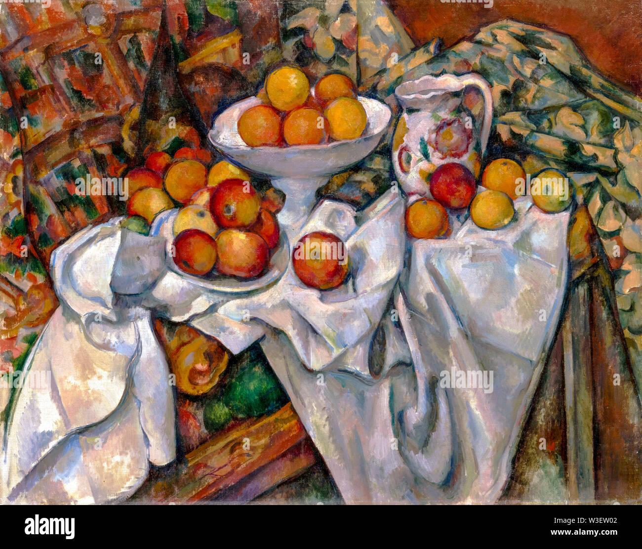 Paul Cézanne, manzanas y naranjas, bodegón pintura, 1895-1900 Imagen De Stock