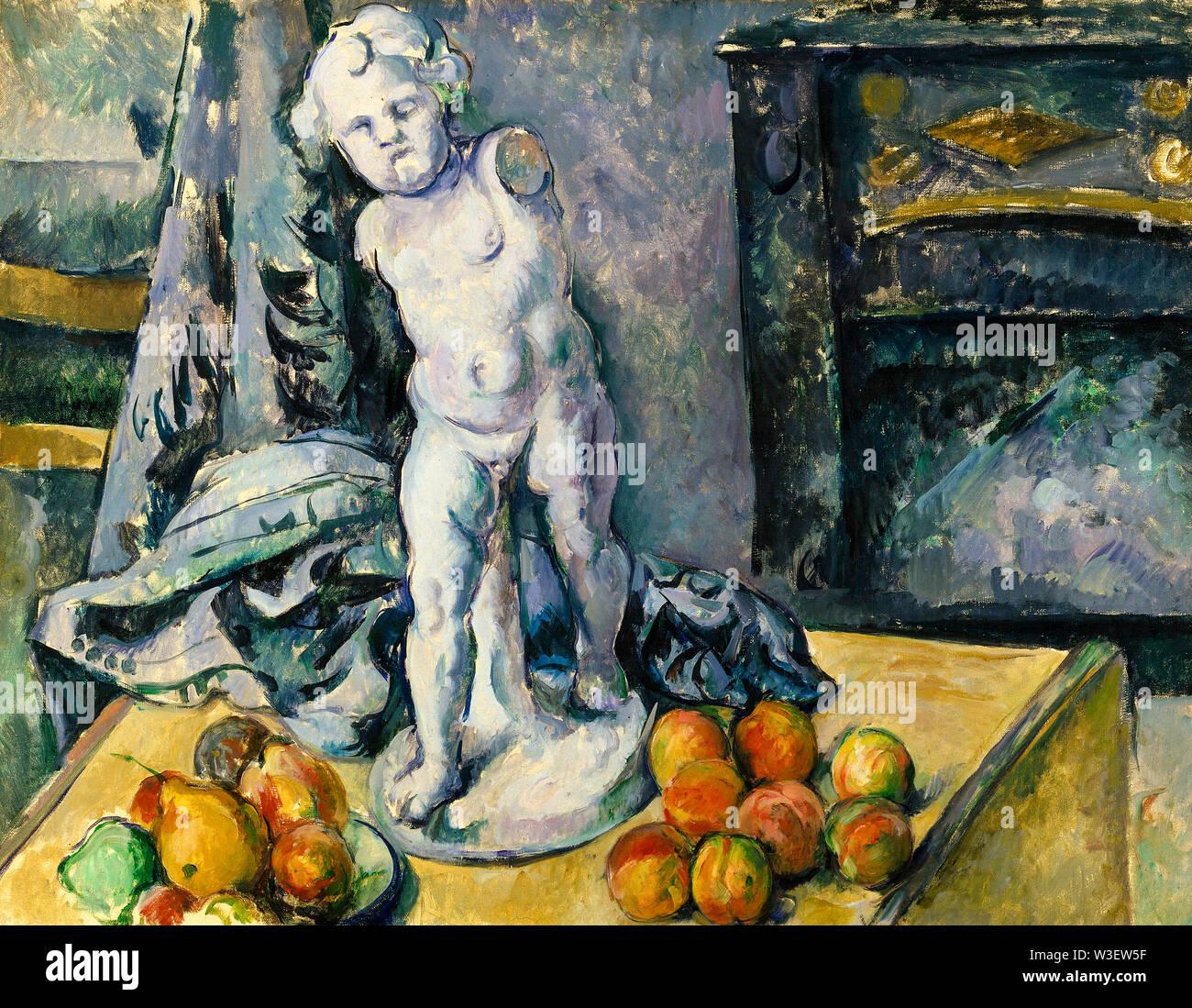 Paul Cézanne, Bodegón con yeso Cupido, bodegón pintura, 1890-1899 Imagen De Stock