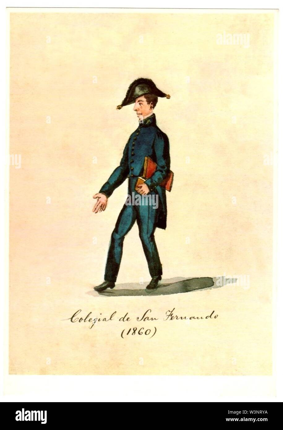 Colegial de San Fernando (1860). Imagen De Stock