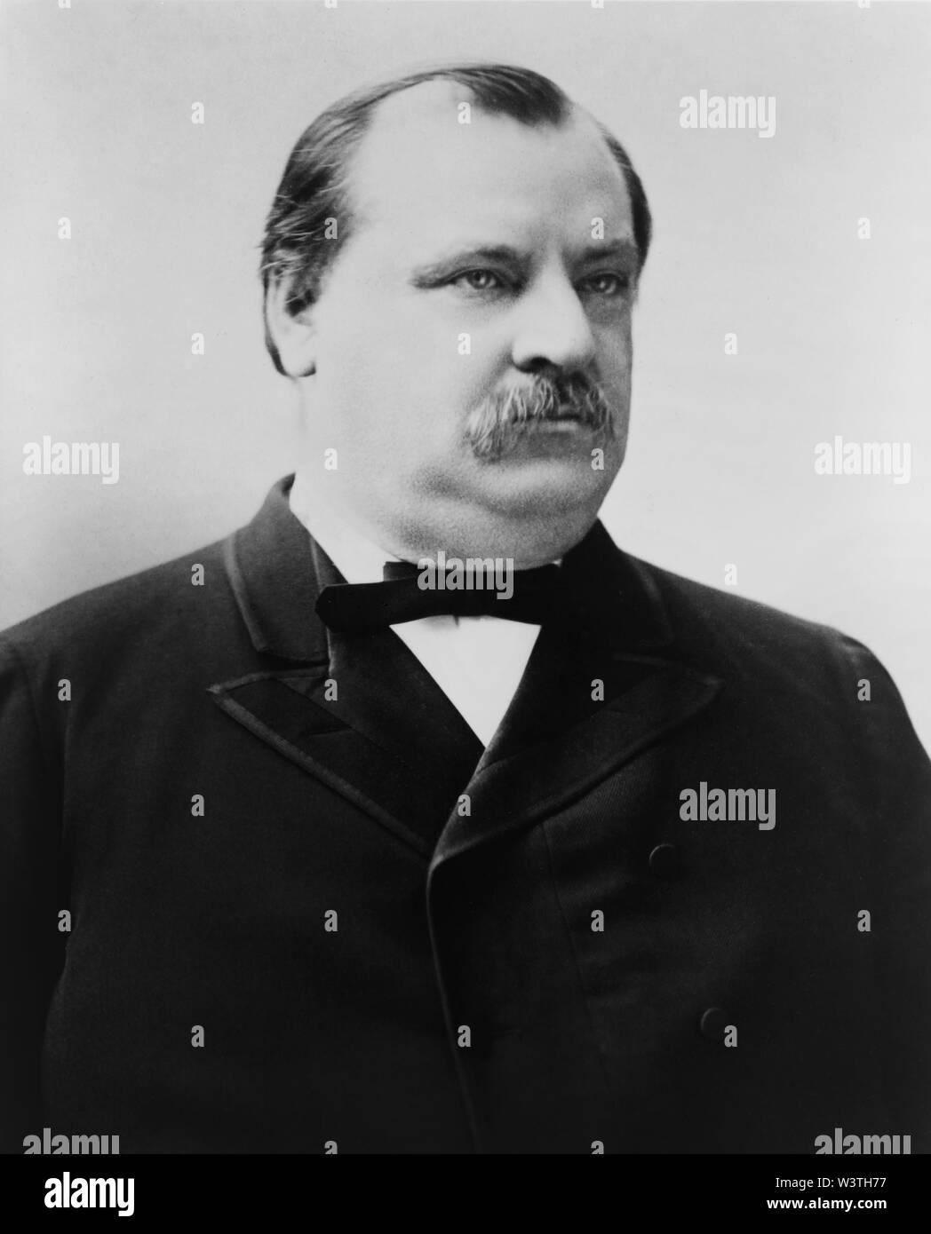 Grover Cleveland (1837-1908), 22º y 24º Presidente de los Estados Unidos 1885-89 y 1893-97, la cabeza y los hombros retrato, 1880 Imagen De Stock