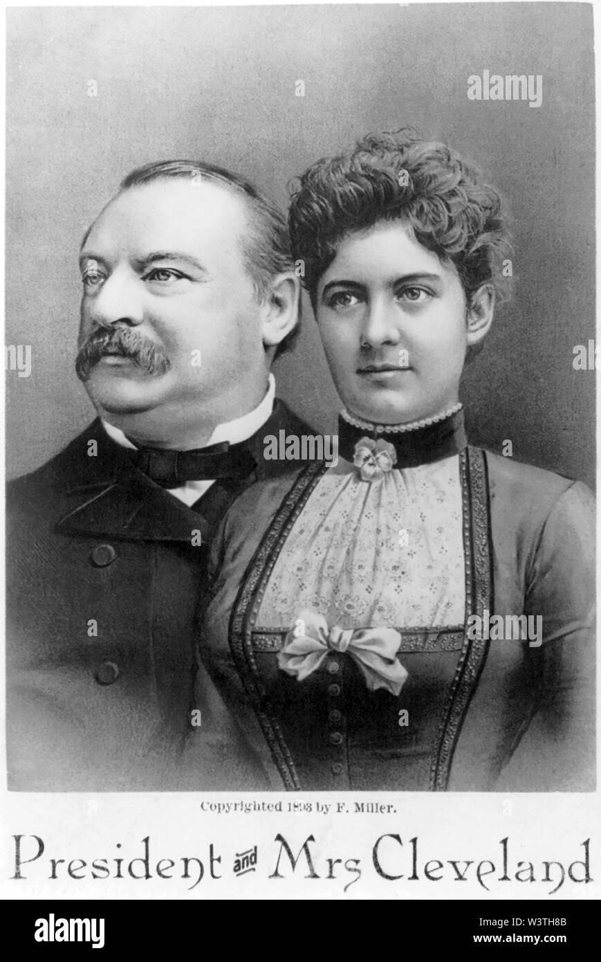 Cleveland, Presidente y la Sra. F. Miller, 1893 Imagen De Stock