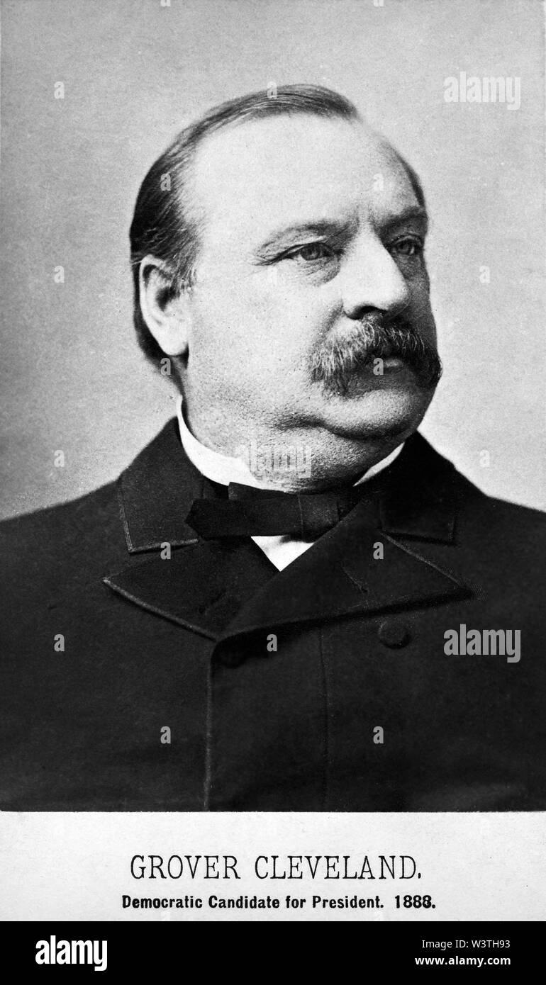 Grover Cleveland (1837-1908), 22º y 24º Presidente de los Estados Unidos 1885-89 y 1893-97, la cabeza y los hombros retrato, 1888 Imagen De Stock