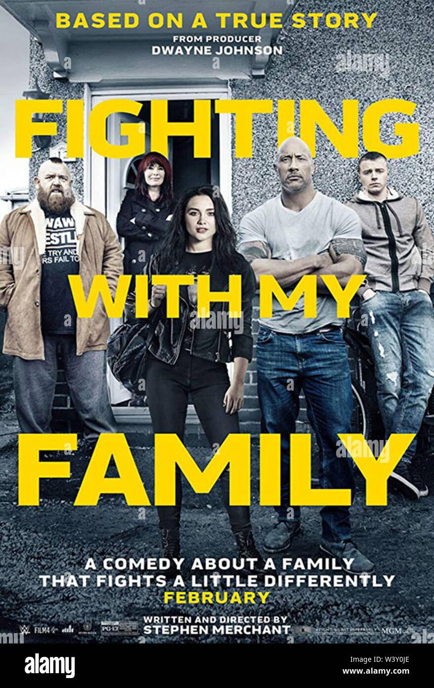 Pelear con mi familia (2019) Florencia PUGH STEPHEN MERCHANT (DIR) MGM/MOVIESTORE COLECCIÓN LTD Foto de stock