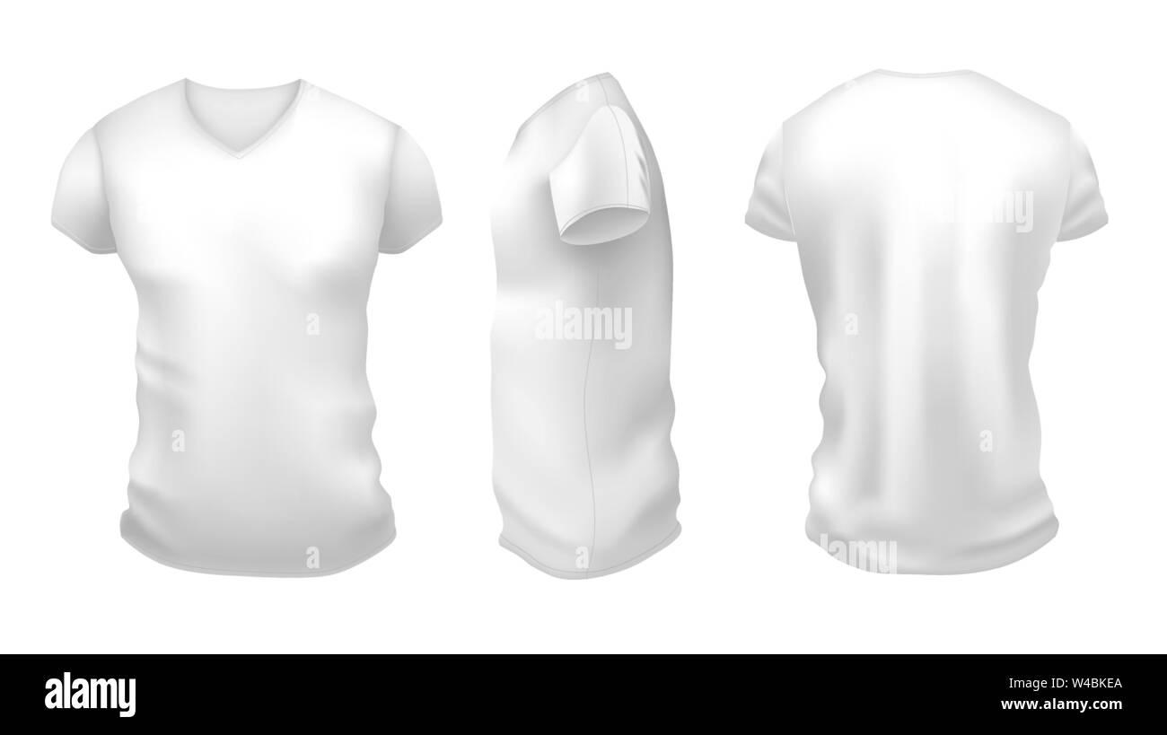 Hombres camiseta blanca de manga corta con el boceto. La