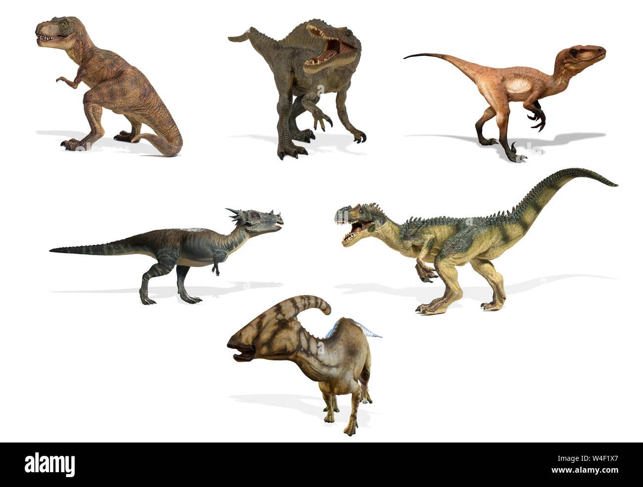 Diferentes Tipos De Dinosaurios Aislado Sobre Fondo Blanco Dinosaurios Herbivoros Y Carnivoros Fotografia De Stock Alamy Sauroposeidón protheles(lagarto dios de los terremotos). alamy