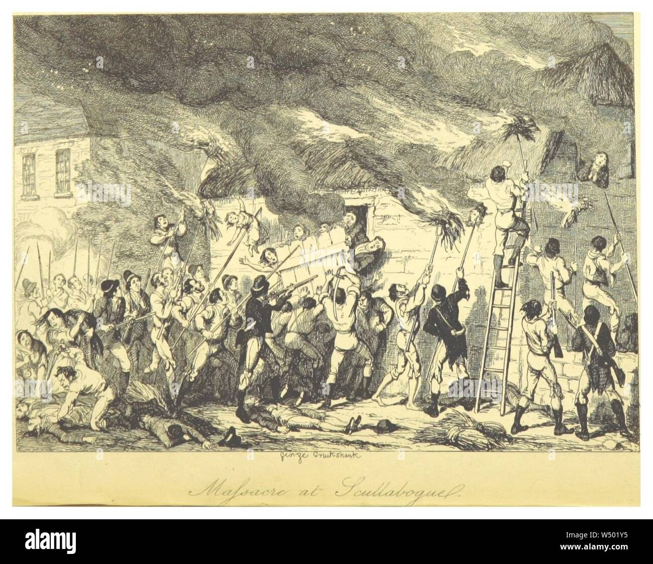 MAXWELL(1845) P162 Masacre en Scullabogue. Foto de stock