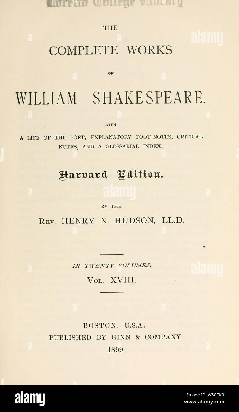 Works Of Shakespeare Imágenes De Stock Works Of