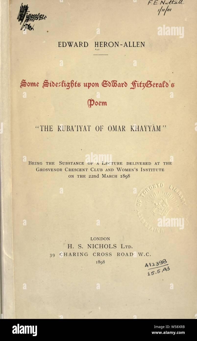 Rubaiyat Of Omar Khayyam Imágenes De Stock Rubaiyat Of