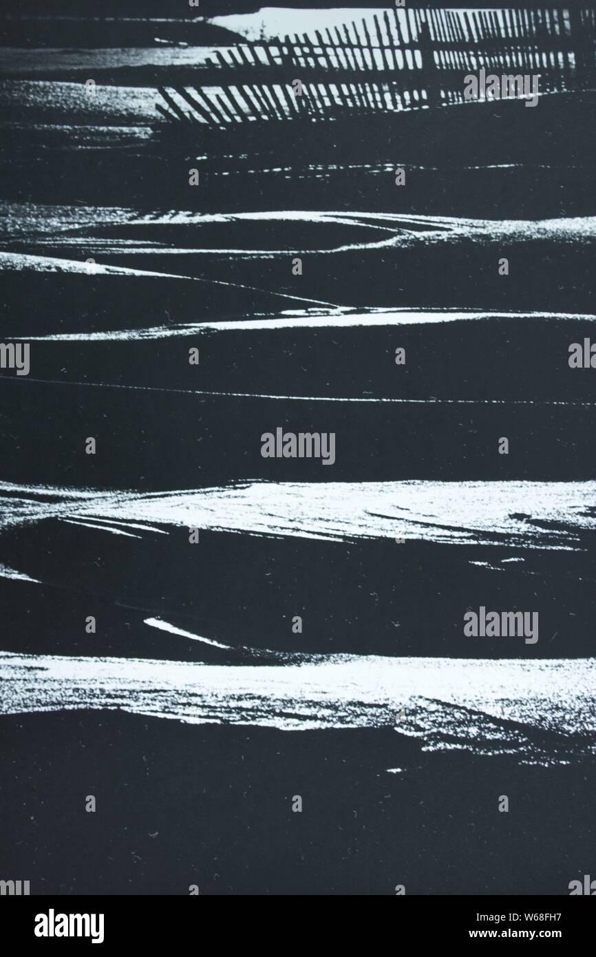 Fino arte fotografía en blanco y negro de los años 70. Foto de stock