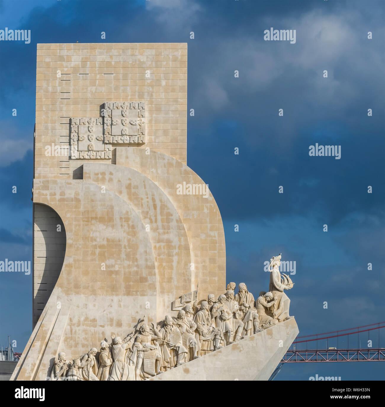 Monumento Padrao dos Descobrimentos; LISBOA, Región de Lisboa, Portugal Foto de stock