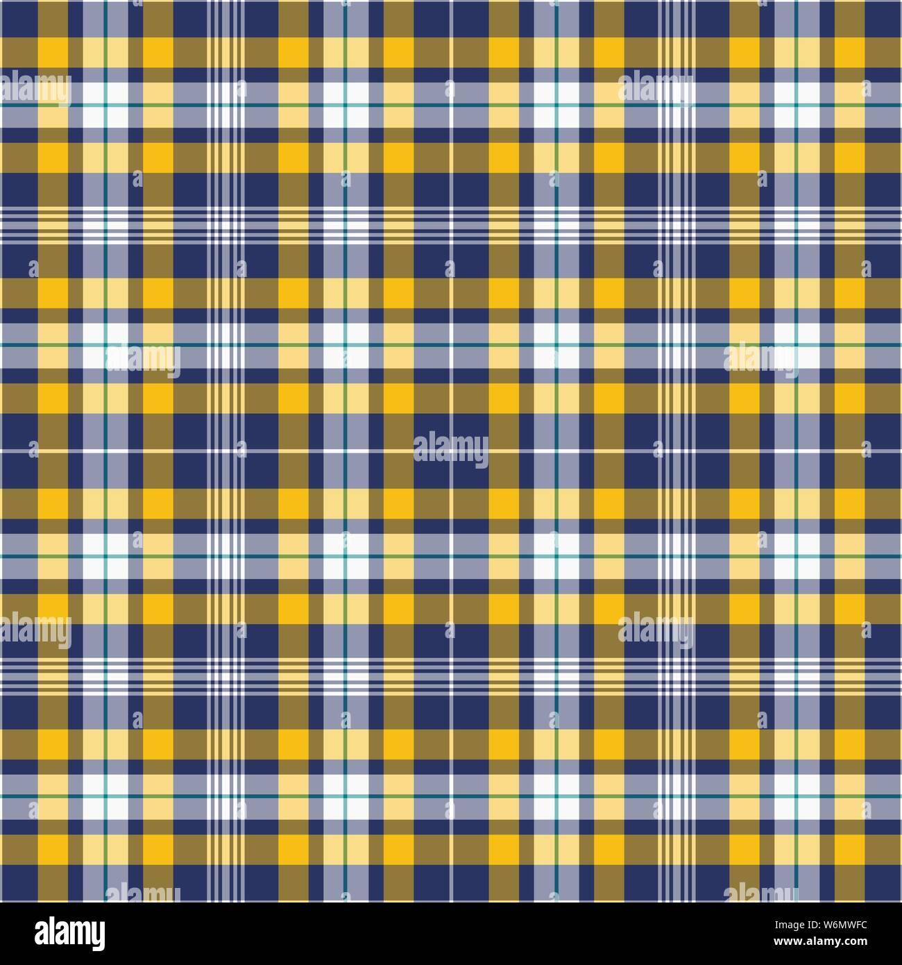 Material de la Tela Escocesa Cuadros Tartán-Azul Marino Amarillo Rojo