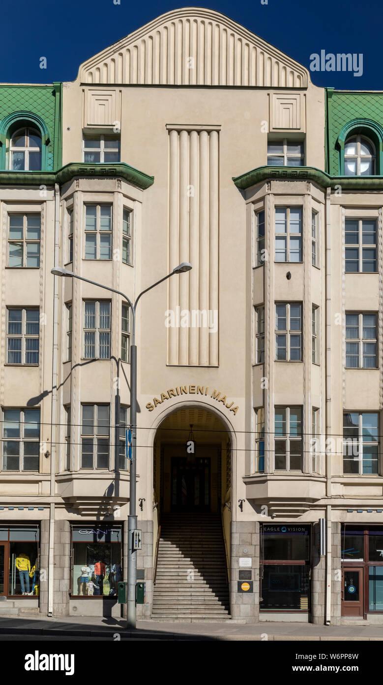 Eliel Saarinen edificio de oficinas desde 1911-1912 en Tallin, Estonia Foto de stock