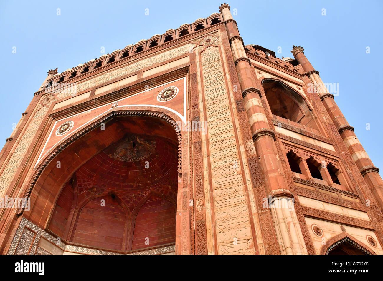 Jama Masjid, la mezquita de Jama, Fatehpur Sikri, India, Asia, Sitio del Patrimonio Mundial de la UNESCO Foto de stock