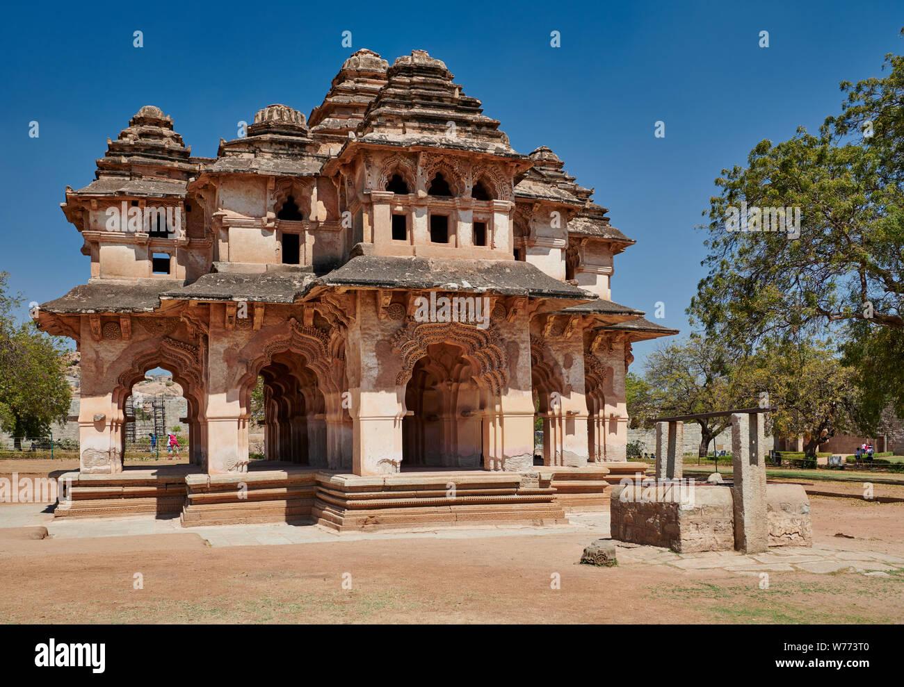 Lotus Mahal, Hampi, MUNDIAL DE LA UNESCO sitio heritge, Karnataka, India Foto de stock