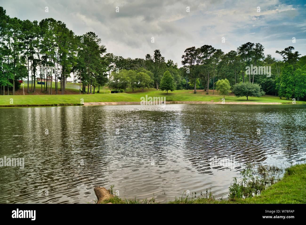 Hermoso paisaje de alta definición fotografía, parque Henderson, Enterprise Alabama Foto de stock