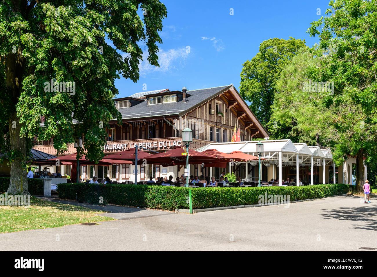Ginebra Suiza La Perle Du Lac Restaurante Por El Lago