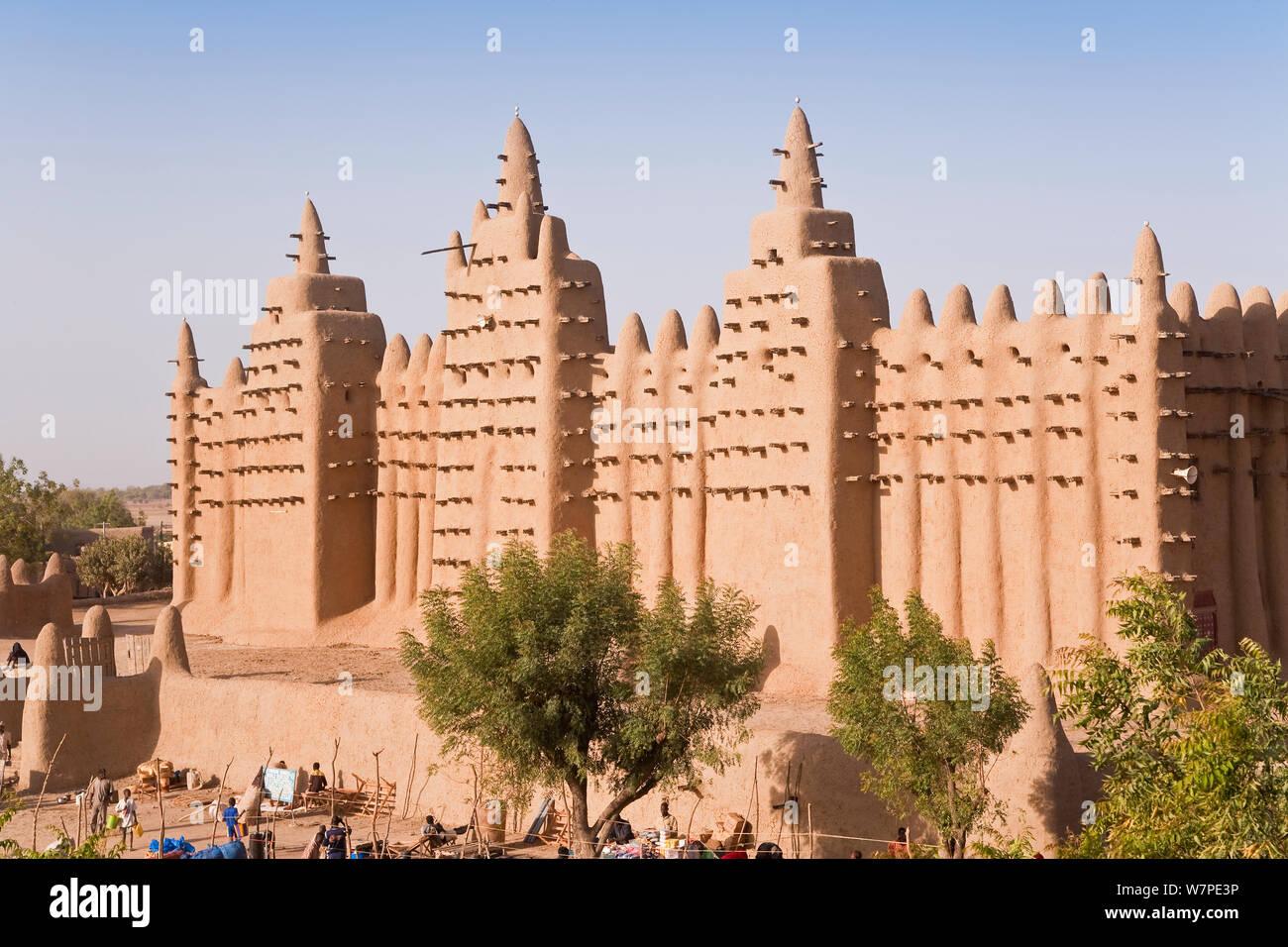 Mezquita De Djenne La Ciudad De Barro Más Grande En El Mundo Estructura De Djenne Es