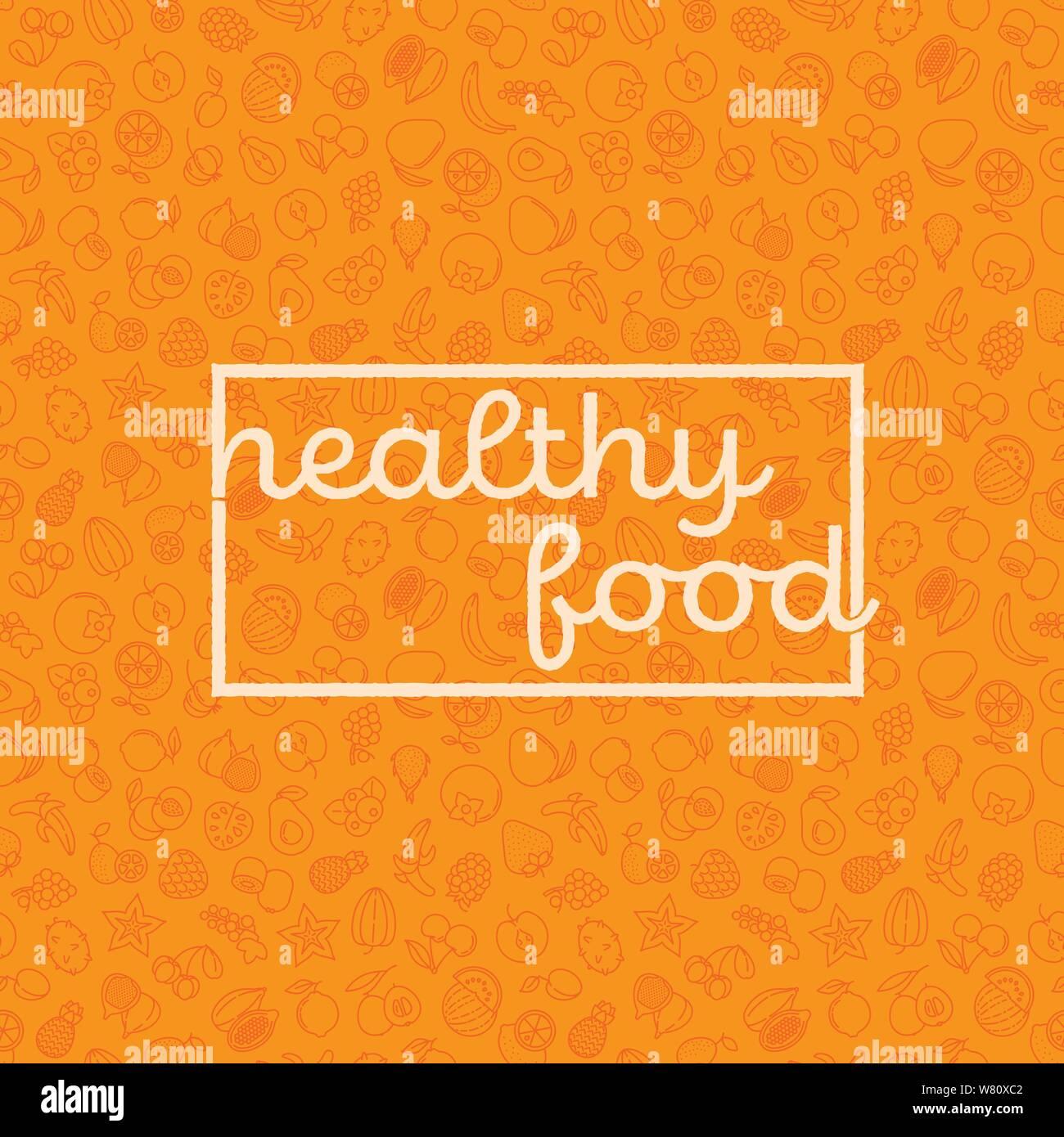 Cartel De Alimentación Saludable Imágenes De Stock Cartel