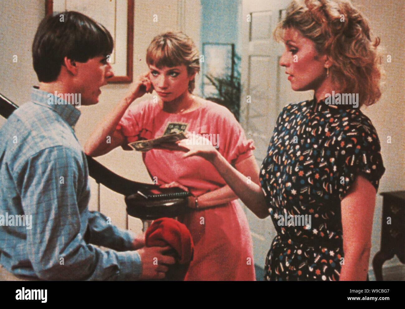 Negocio arriesgado 1983 Geffen Film Company con desde la izquierda: Tom Cruise, Rebecca de Mornay, Shera Danese Foto de stock