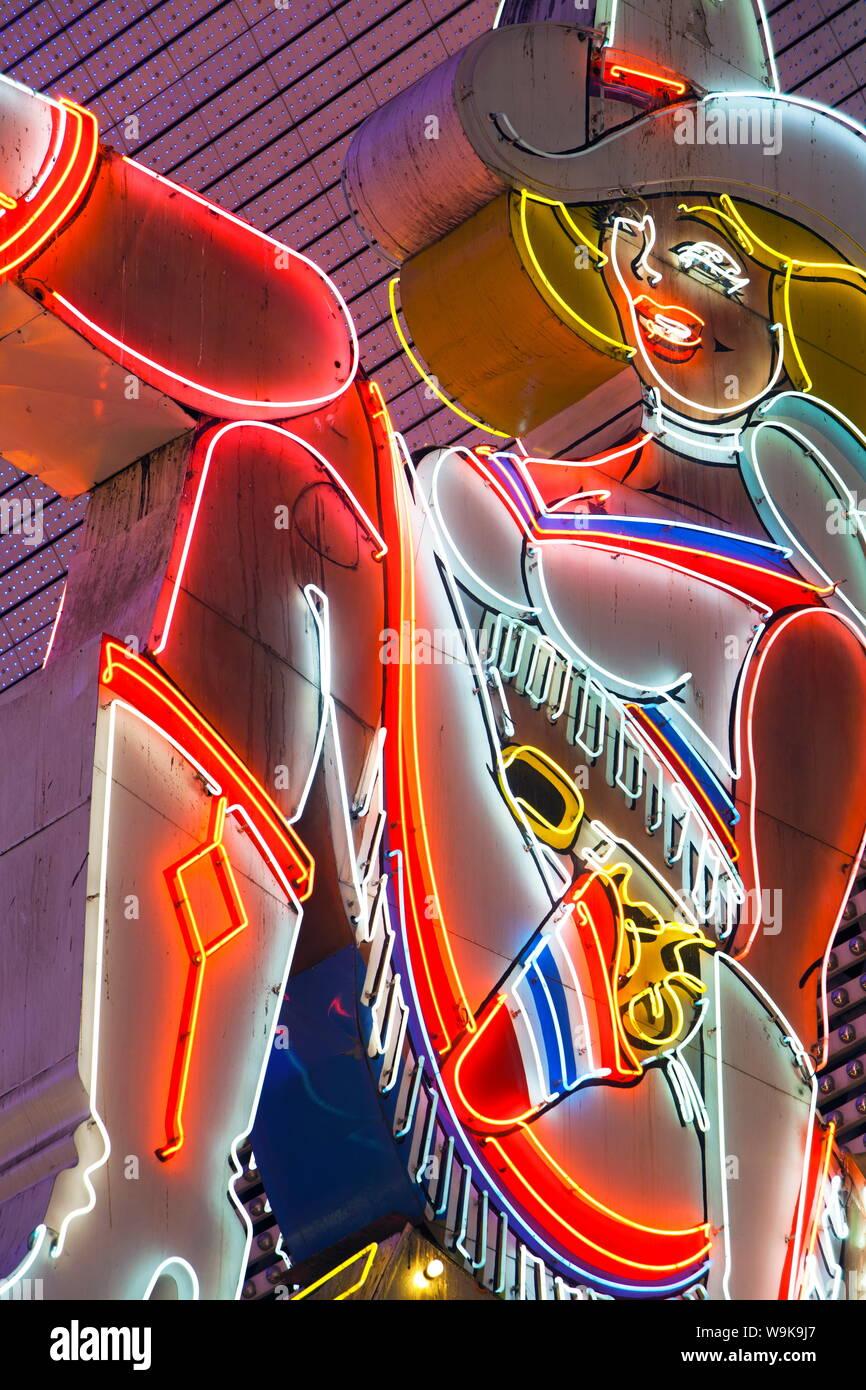 El Fremont Street Experience, en el centro de Las Vegas, Nevada, Estados Unidos de América, América del Norte Foto de stock