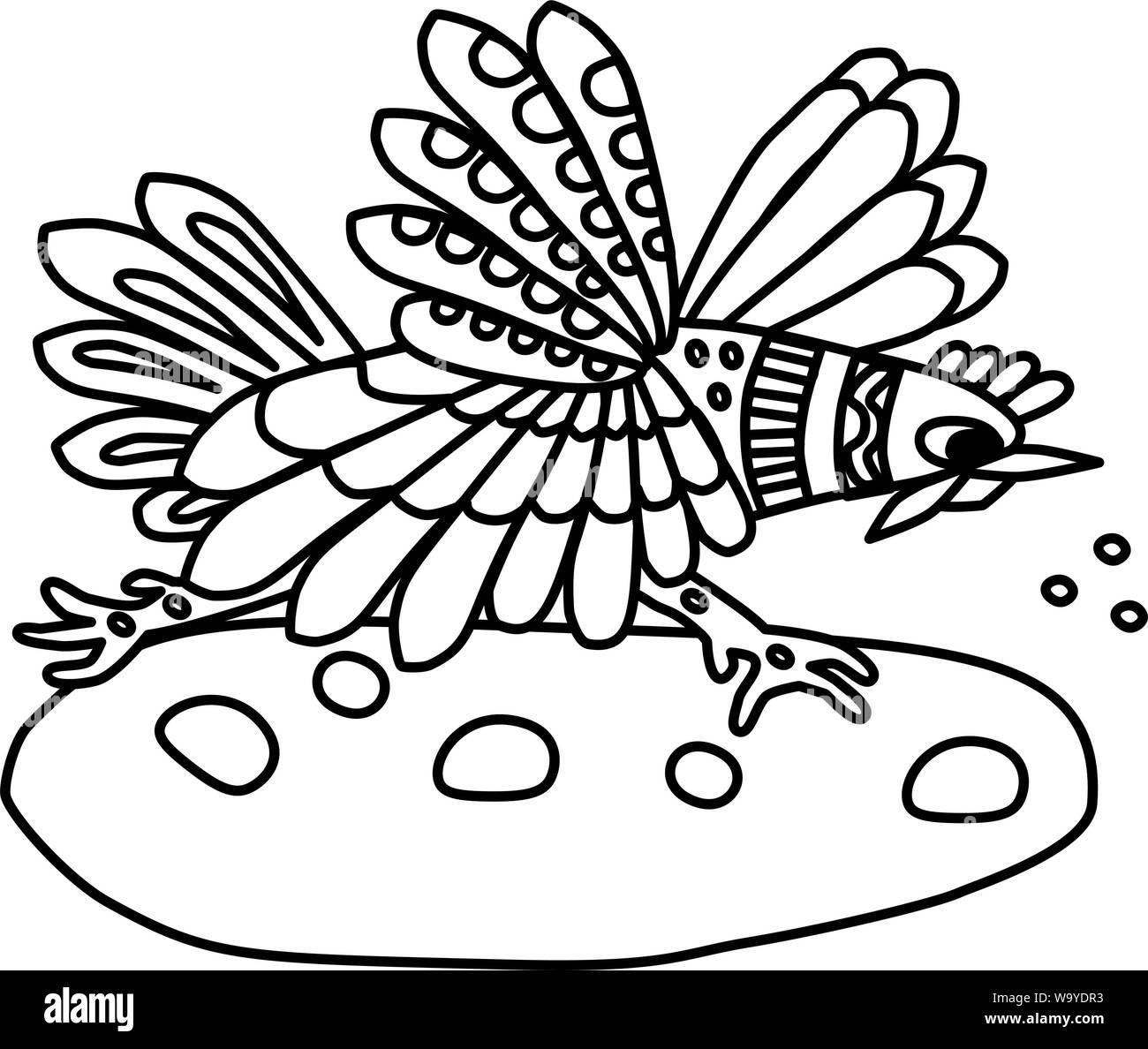 Página Del Libro Para Colorear Para Los Niños Bird Gallo Se