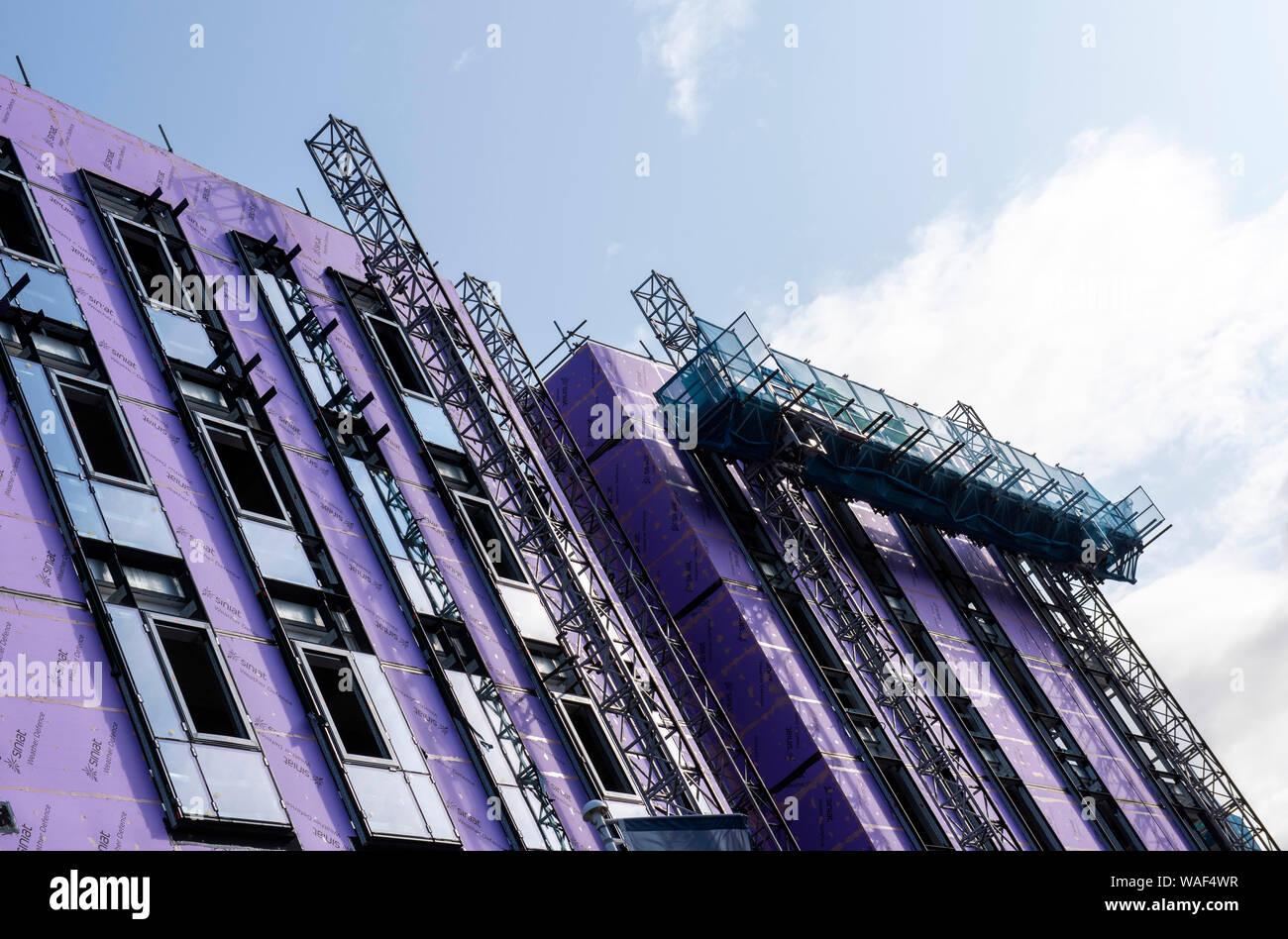 La construcción de la nueva ciudad de Nottingham Nottingham City College, Inglaterra Foto de stock
