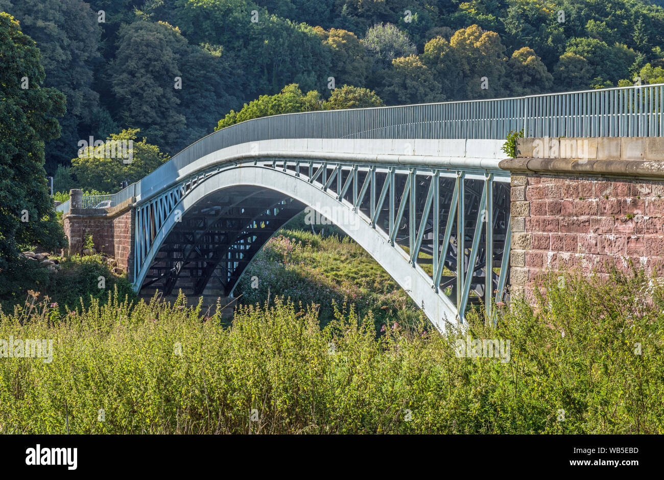 Puente Bigsweir Valle Wye Monmouthshire Foto de stock