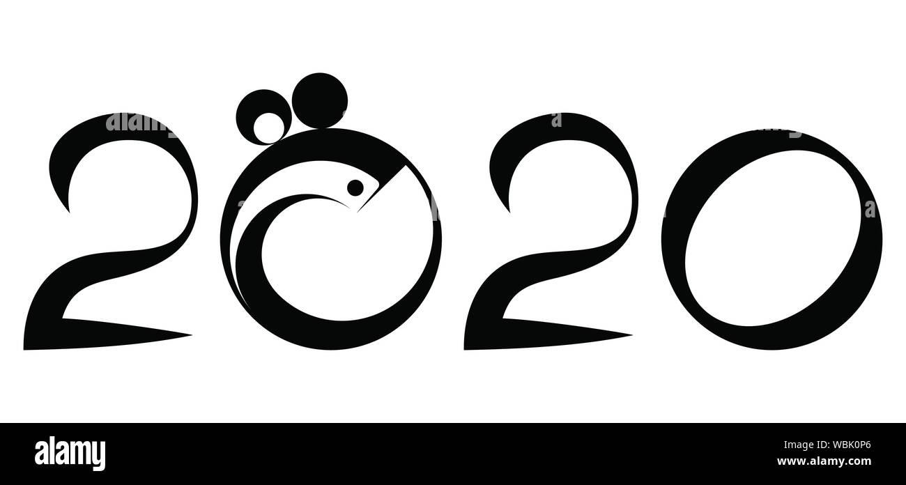 Vector De Calendario 2020.2020 Calendario Chino