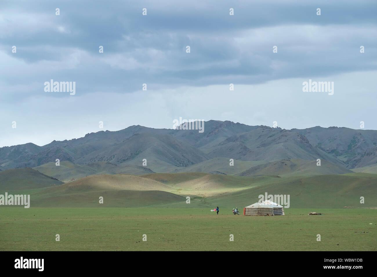 Yurta Mongol Foto de stock