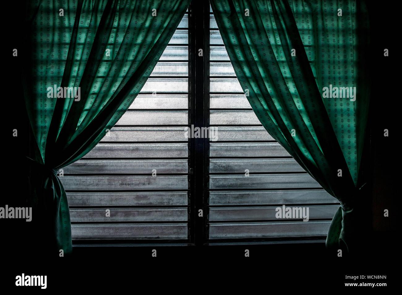 Cortinas Verdes Fotos e Imágenes de stock Alamy