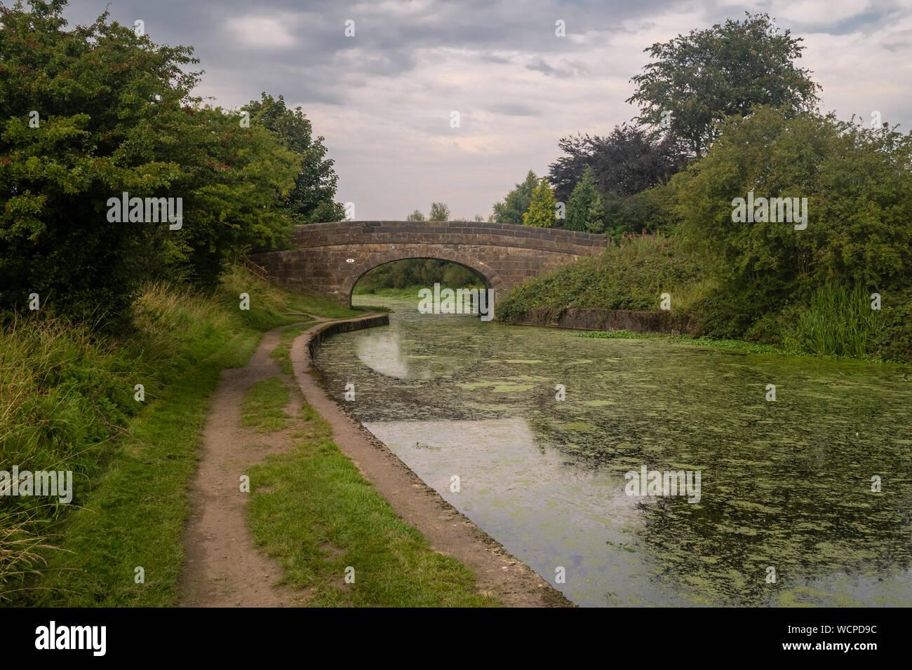 El Leeds liverpool canal en Aspull cerca de Wigan en Gran Manchester Foto de stock