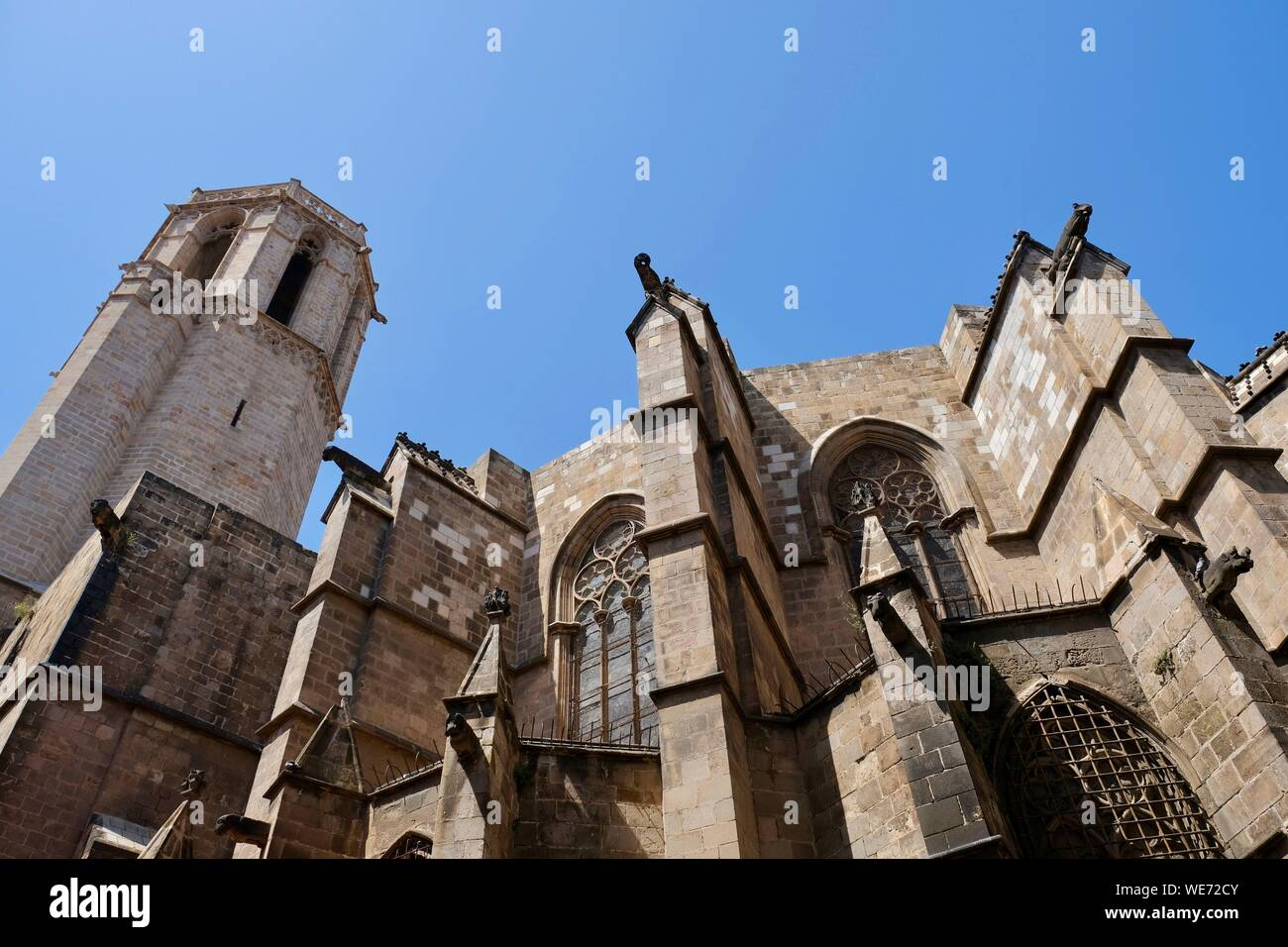 España, Cataluña, Barcelona, el Barrio Gótico, la Catedral, Barrio de Santa Cruz y Santa Eulalia Foto de stock