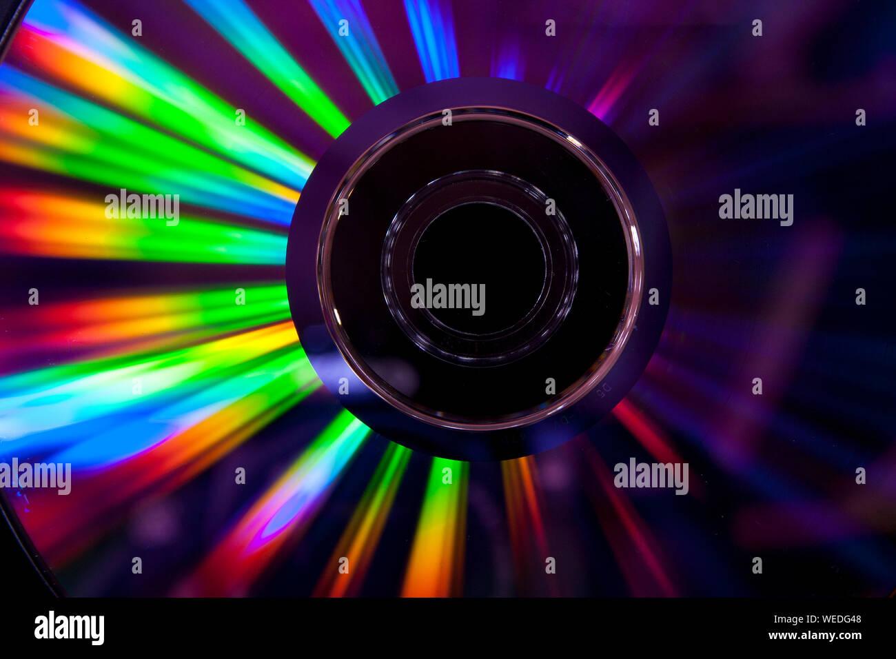 Close-up de Compact Disc Foto de stock
