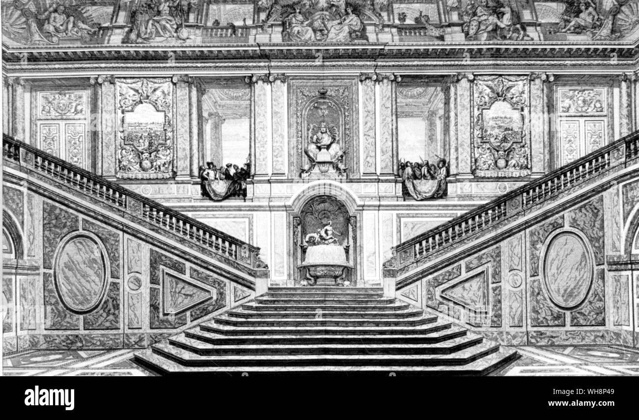 "El 'Escalier des Ambassadeurs"" en Versalles. Foto de stock"