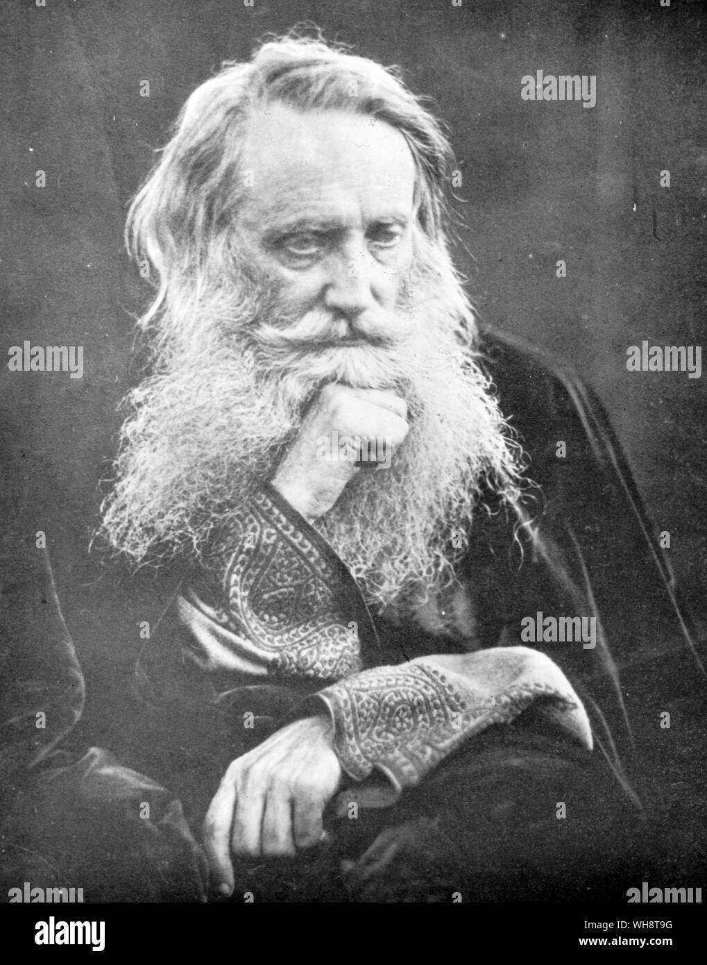 Sir Henry Taylor en sus mediados de los sesenta fue en Inglaterra intelectual del siglo XIX, una de las figuras veneradas Foto de stock