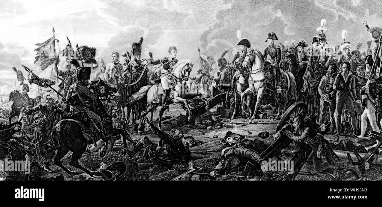 La guerra/ La Batalla de Austerlitz, 1805. Las guerras napoleónicas. Foto de stock