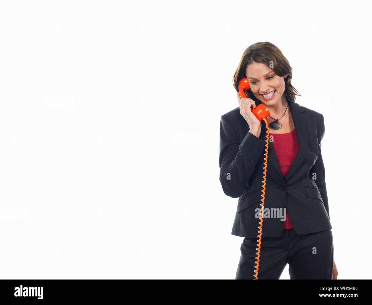 La empresaria en el teléfono Foto de stock