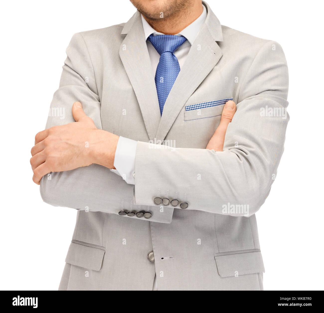 Buisnessman en traje y corbata Foto de stock