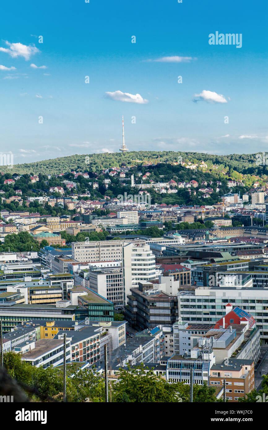 Terraza Escénica Vista De Stuttgart Alemania Mostrando